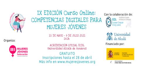 """IX Curso online """"Competencias Digitales para Mujeres Jóvenes"""""""