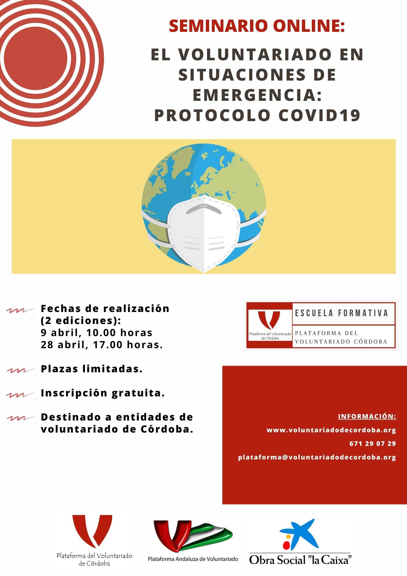 Seminario online: protocolo covid19 para entidades