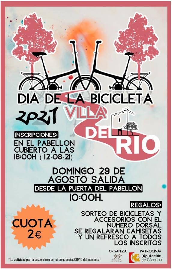 Villa del Río. Día de la bicicleta 29 agosto.